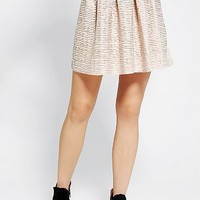 Pins And Needles Textured Full Mini Skirt