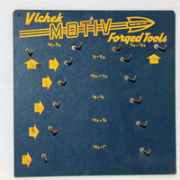 Rare 1940s - 1950s Vlchek Motiv Forged Tools Display Board, Vintage Tool Display Rack