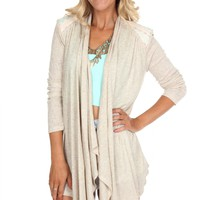 Open Front Embroidered Cardigan