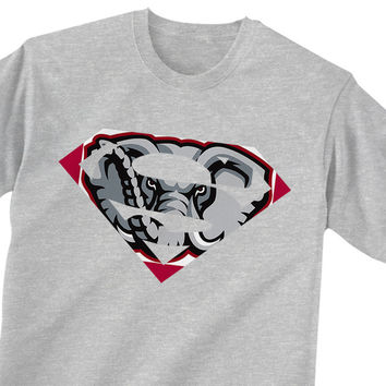 Alabama Crimson Tide Inspired Superman Logo T-Shirt, Sports T-Shirt, Shirts, Men's Shirts, Men's Tee, Men's T-Shirt