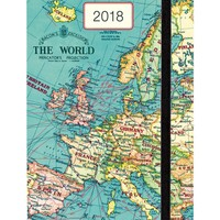 Cavallini Papers & Co., Inc. Vintage Map Weekly Planner Cavallini 2018