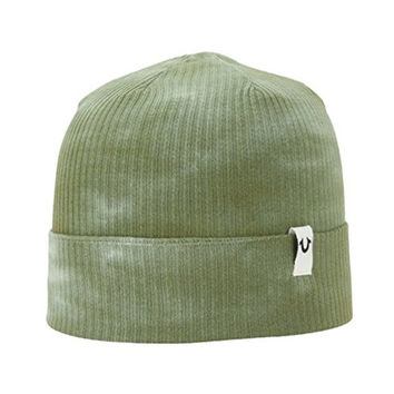 True Religion Men's Marble Dye Knit Beanie Cap Hat One Size (Sequoia)