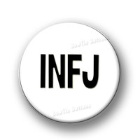 "INFJ Myers-Briggs Personality Type MBTI Psychology Carl Jung  3"" Three Inch Round Button Pin or Magnet"