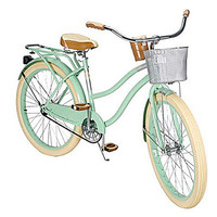 "26"" Huffy Deluxe Women's Vintage Comfort Beach Cruiser Bike Bicycle, Mint Green"