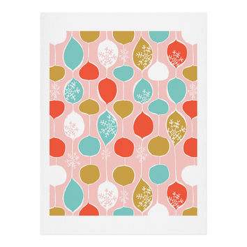 Heather Dutton Snowflake Holiday Bobble Chill Pink Art Print
