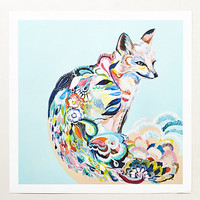 Fancy Fox Print by Anthropologie Assorted One Size Wall Decor
