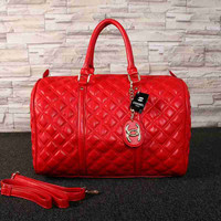 CHANEL Women Leather Tote Handbag Travel Luggage Bag