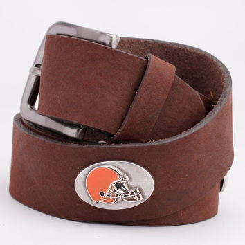 Cleveland Browns Vintage Leather Belt - Brown