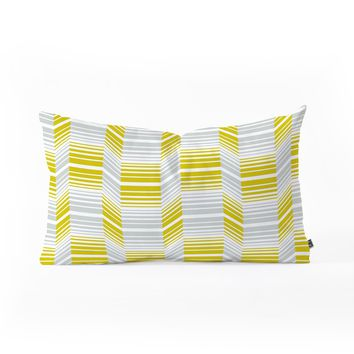 Heather Dutton Delineate Citron Oblong Throw Pillow