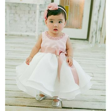 Newborn Girl Dress Infant Christening Gown Dress For Baby Girl 1 2 Year Birthday Party Baby Child Clothing Toddler Girls Clothes