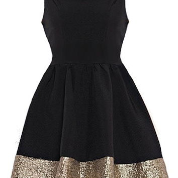 Metallic Hem Dress