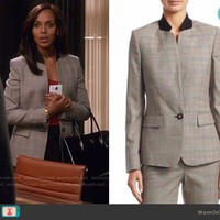 Olivia's plaid blazer on Scandal