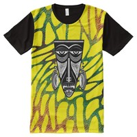 African Face Mask All-Over Print T-shirt