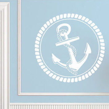 Wall Decal Vinyl Sticker Decals Nautical Anchor Ship Ocean Sea Nursery C408