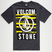 Volcom Skullyosis Mens T-Shirt Charcoal  In Sizes