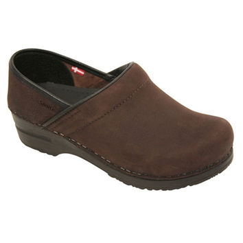 Sanita Professional Textured Oiled Leather Clog