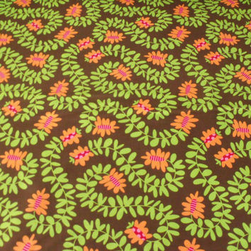 Michael Miller  Quilt Fabric  Meandering Vines in Spice  1 Yard