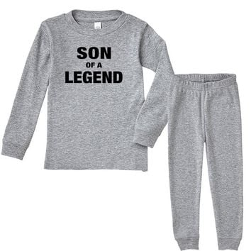 Dad The Man The Myth The Legend - Son Of A Legend Family Matching Infant long sleeve pajama set