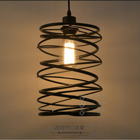 Americian Country Loft Style Iron Pendant Lamp Industrial Retro Dining Light Spin Shade Bedroom Living Room Light Shipping