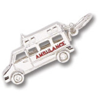 Ambulance Charm In Sterling Silver