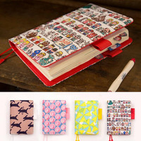 Floral leather notebook DIY diary daily planner agenda organizer 207P cute Japan fashion stationery A6 A5 school supplies