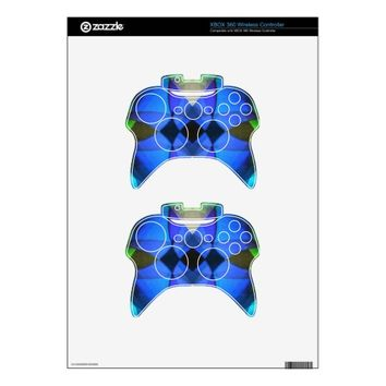 Blue Butterfly Xbox 360 Controller Skins