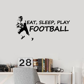 Vinyl Wall Decal Football Player Lifestyle Quote Saying Sports Decor Art Stickers Mural (ig5561)