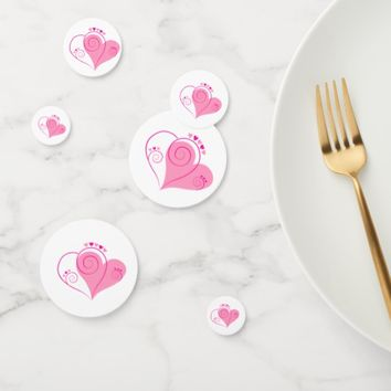 Table Confetti Hearts