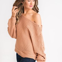 Lovato Lace Up Sweater (Apricot)