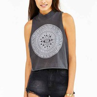 Future State Medallion Muscle Tee- Black