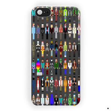 Minecraft Creeper Skin Collage For iPhone 5 / 5S / 5C Case