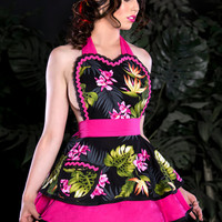 Tiki Pinup Orchid Darling Apron Made to Order