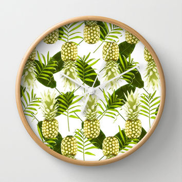 Tropical Pineapple Wall Clock by Grace