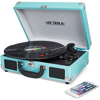Victrola Solid Suitcase Bluetooth Record Player | macys.com