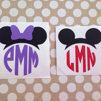 Disney Inspired Monograms | Mickey Minnie Monograms | Mickey and Minnie Hat Monograms | Disney Hat Monograms | Magic Band Decals | Tumbler