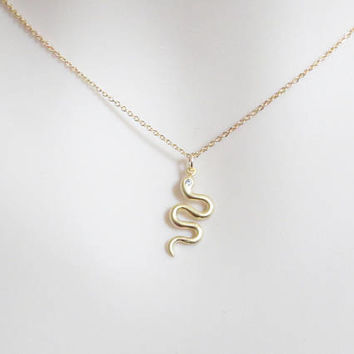 Snake, Gold, Silver, Necklace, Modern, Snake, Animal, Jewelry, Lovers, Friends, Sister, Gift, Accessory, Jewelry