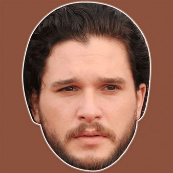 Sad Kit Harington Mask - Perfect for Halloween, Costume Party Mask, Masquerades, Parties, Festivals, Concerts - Jumbo Size Waterproof Laminated Mask