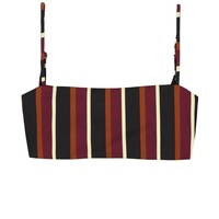 SKIN - Bandeau Top | Wine Stripe
