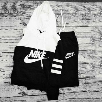 """NIKE"" Print Hoodies Top Sweater Pants Sweatpants Set Two-Piece Sportswear"