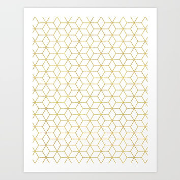 Gold + Geometric #society6 #decor #pattern Art Print by 83 Oranges™