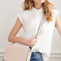 Metal-Tipped Crossbody Satchel