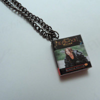 The Hunger Games Miniature Book Pendant Necklace by myevilfriend