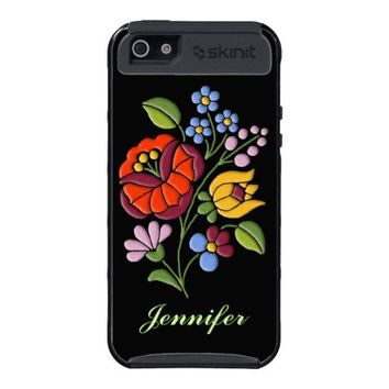 Kalocsa Embroidery - Hungarian Folk Art Cases For iPhone 5 from Zazzle.com