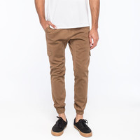 Crash Solid Mens Cargo Jogger Pants Taupe  In Sizes