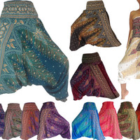 Harem Pants/Yoga pants/Wide leg pants/Baggy pants/Dance pants/Genie pants/Hippie pants/Boho Pants/Aladdin Pants/Gypsy pants/Trouser Jumpsuit