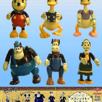 Yujin Disney Characters Capsule World Gashapon Classics 6 Mascot Collection Figure Set