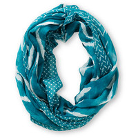 D&Y Chevron  Stripe Turquoise Infinity Scarf at Zumiez : PDP