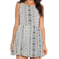Raga Printed Tank Dress in Black & White