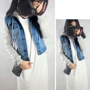 Casual Denim Long Sleeve Hooded Jacket