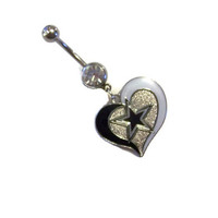 NFL Dallas Cowboys Belly Ring Body Jewelry